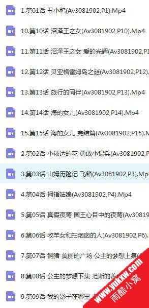 安徒生童话动画全集15集全国语无字2.54G经典怀旧百度动画片